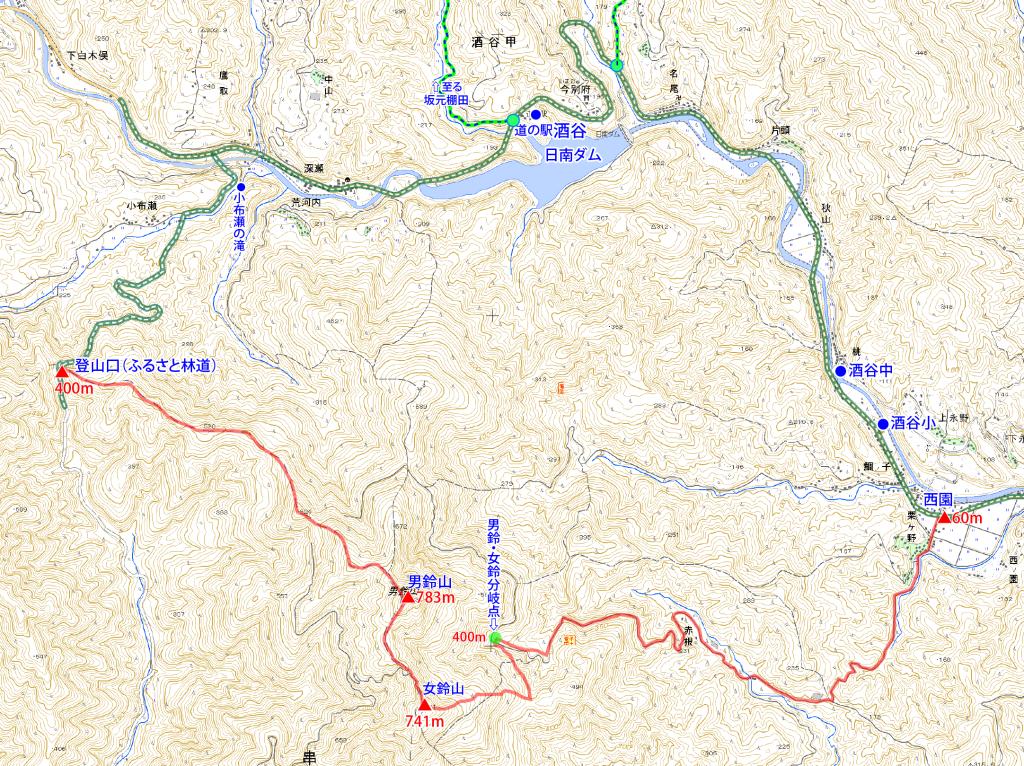 179男鈴山・女鈴山縦走コース図-01