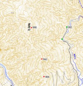 雪降山地図