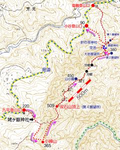 小峰山地図