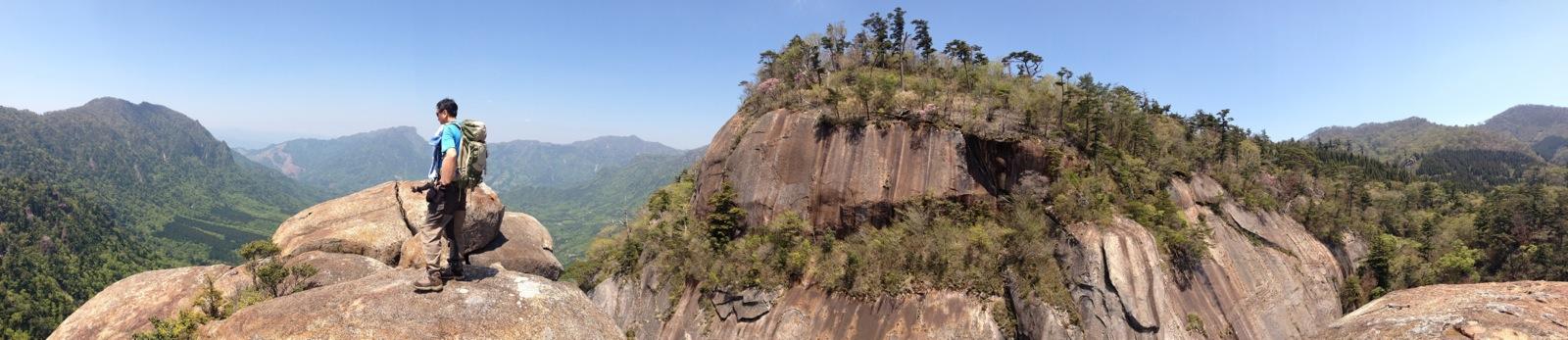 鉾岳頂上パノラマ