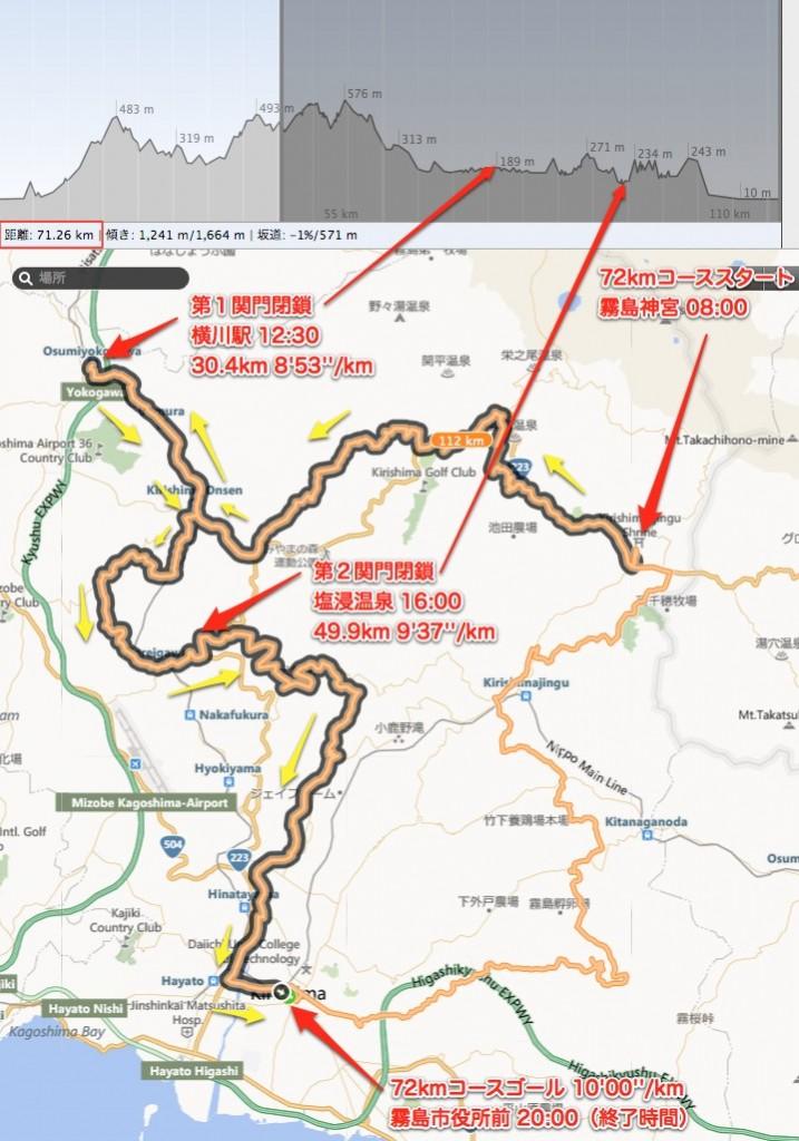 うるとらマラソンコース72km俯瞰図文字入2