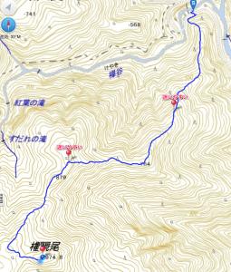 権現尾GPSMAP1